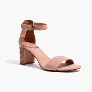 Madewell Lainy Ankle Strap Sandal Suede Clay